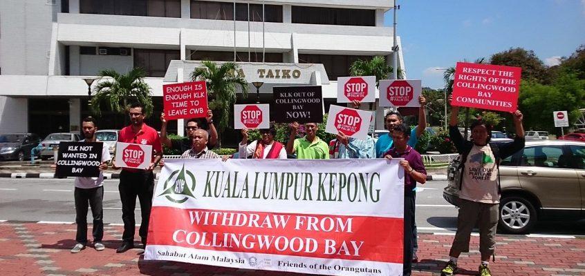 FOTO & SAM protest Kuala Lumpur Kepong in Malaysia